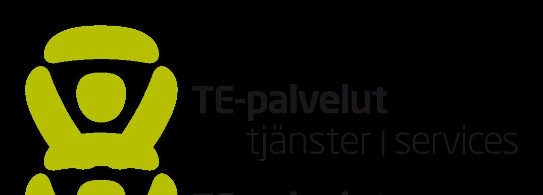 TE-palvelut logo ja teksti TE-palvelut, tjänster services