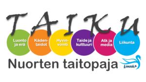 Taikupajan logo kertoo Taikun olevan nuorten oma työpaja.
