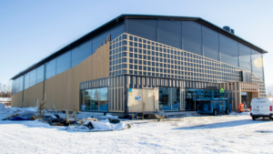 Urheiluhallia rakennetaan Limingan kirkonkylällä liikuntapuiston yhteyteen.