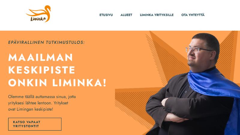 Limingan yrtystontteja markkinoidaan uusilla verkkosivuilla